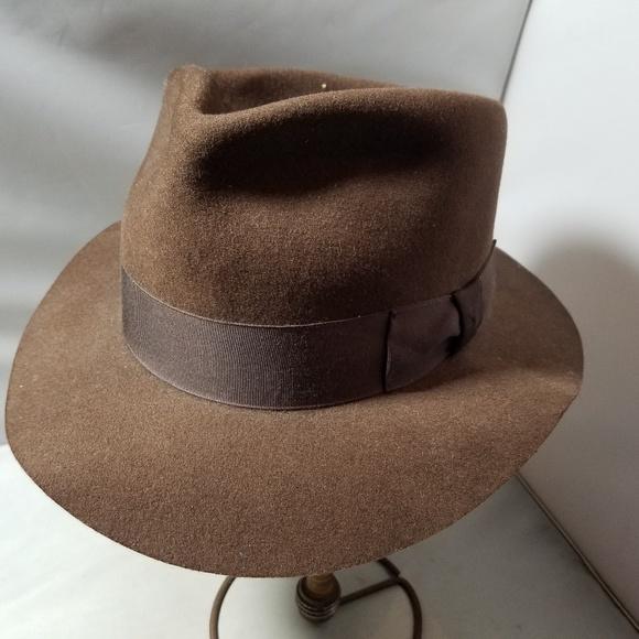 7e5b29cf51 Stetson Indiana Jones Brown Felt Men's Hat Vintage